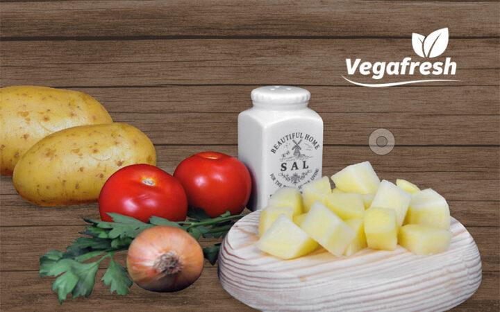 Vegafresh, patata fresca cortada y envasada lista para cocinar